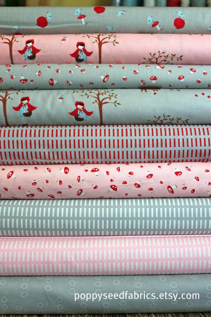 Cute quilting fabric from poppyseedfabrics.etsy.com