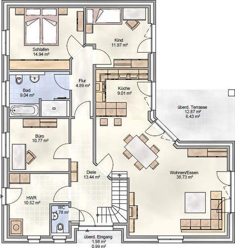 Das Erdgeschoss beim Ausbau des Dachgeschosses