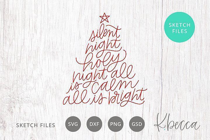 22+ Silent Night Type Svg Design