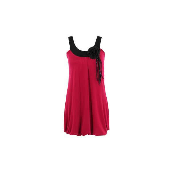 Krisp Womens Pleated Bubble Jersey A Line Tunic Dress Party Tunic... ($23) ❤ liked on Polyvore featuring dresses, red, tunic dress, women, a line cocktail dress, party dresses, a line dress, going out dresses and pleated a line dress