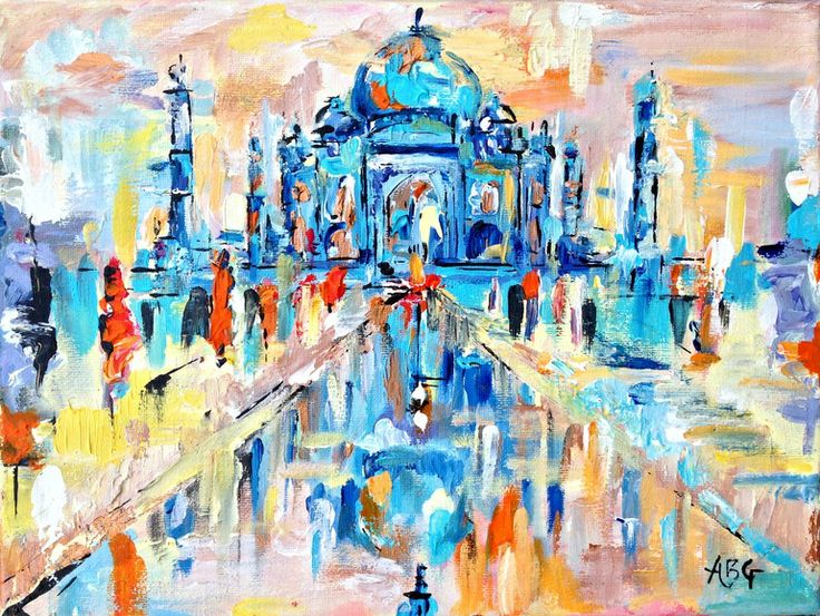 "Saatchi Art Artist: Anna Gammans; Acrylic 2013 Painting ""The Taj Mahal, Agra """