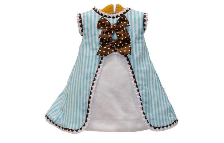 Vestido de rayas con capota Dolce Petit - adrielsmoda.es