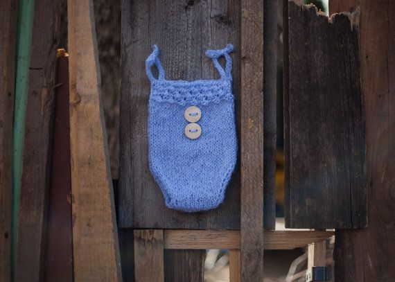 Cute Blue Romper Blue bloomers Mohair Knit by GabriCollection