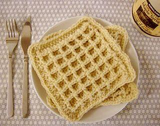 Waffle crochet dishcloth - free pattern