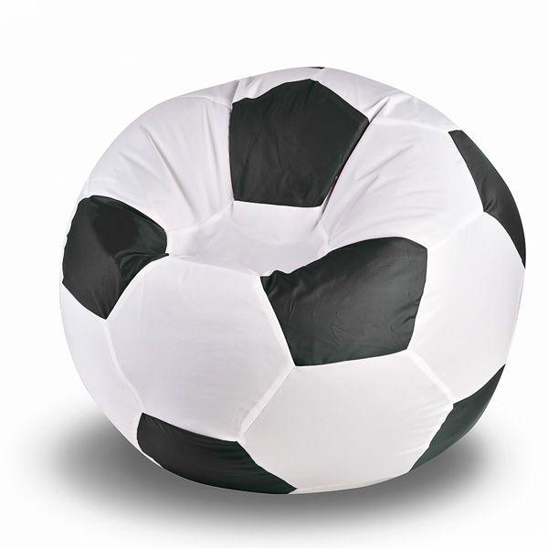 Кресло-мяч White-Black (черно-белый) Кресло-мяч классической чёрно-белой расцветки – для настоящих фанатов футбола! 100 сантиметров в высоту и 90 сантиметров в диаметре, кресло выдерживает вес сидящего до 100 килограмм! Ткань чехла отлично противостоит появлению пятен и загрязнений, и при случае легко стирается. Что ещё нужно для того, чтобы с комфортом поболеть за любимую команду!