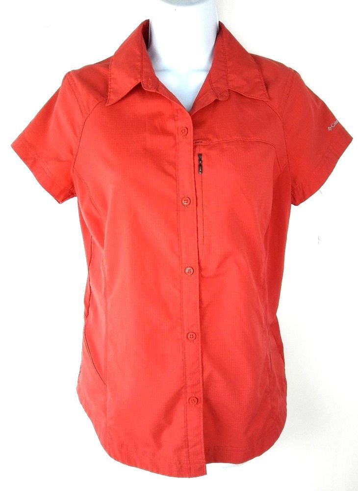 225ec9e0 Columbia Omni Shade Sun Protection Womens Shirt Size Small Red Vented Button  Up #Columbia #ButtonDownShirt #Casual
