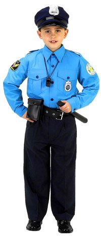 Jr. Police Officer Costume with Cap - Police Costumes for Children