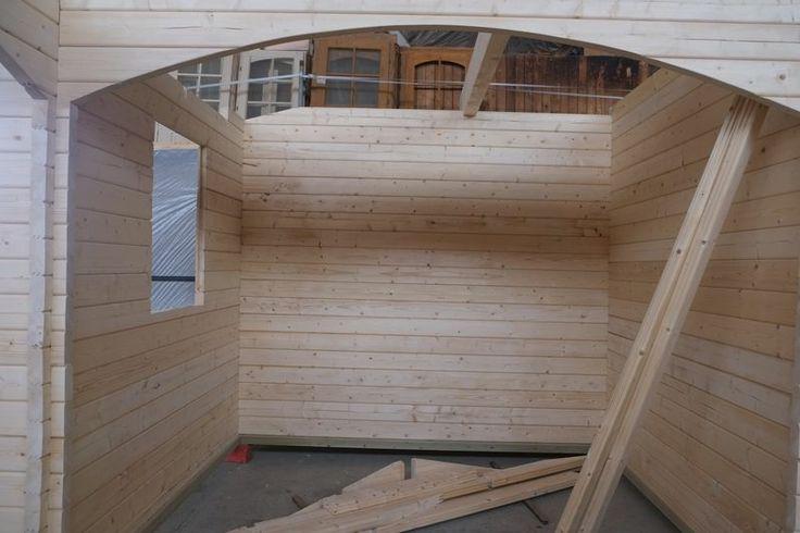 Casa de madera 8500x8000x60 mm premontaje