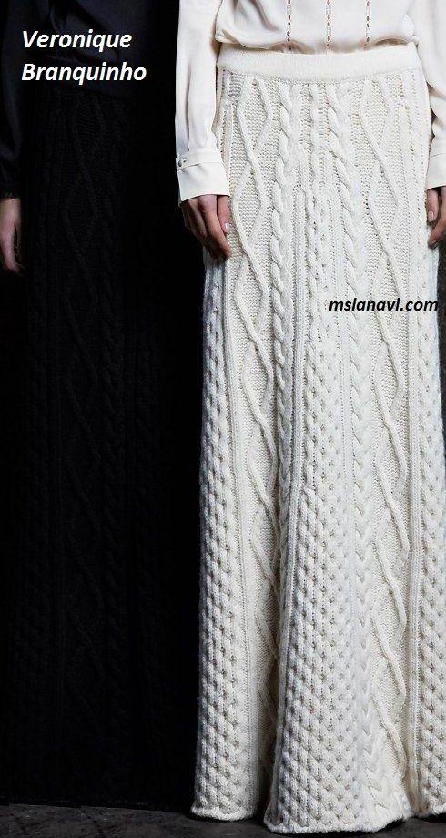 Вязаные юбки спицами от Veronique Branquinho - СХЕМА  http://mslanavi.com/2017/01/vyazanye-yubki-spicami-ot-veronique-branquinho/