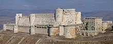 Castles, such as Krak des Chevaliers which was built by Crusaders, were a prominent feature of the medieval period