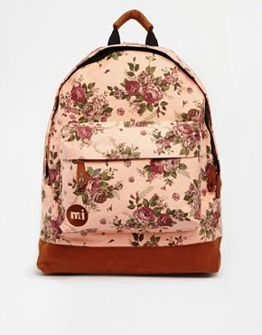 Mi-Pac Floral Tapestry Backpack in Tan