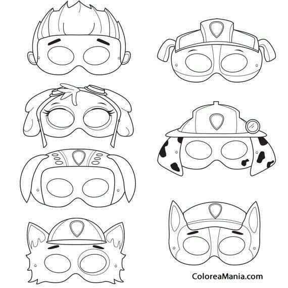 Colorear Máscaras de Patrulla canina                                                                                                                                                                                 More