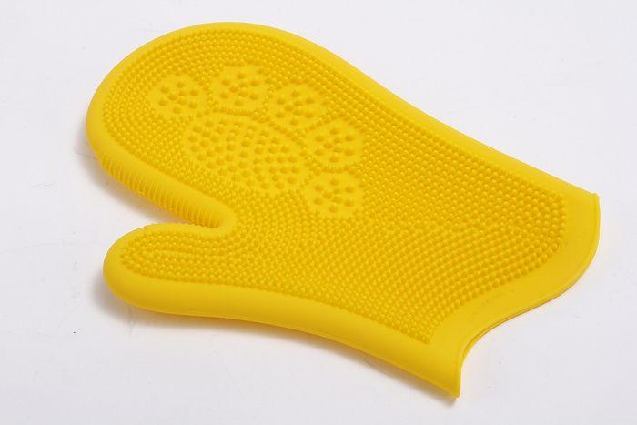 Pet Silicone Bath Massage Gloves/Rubbing Bath Brushes
