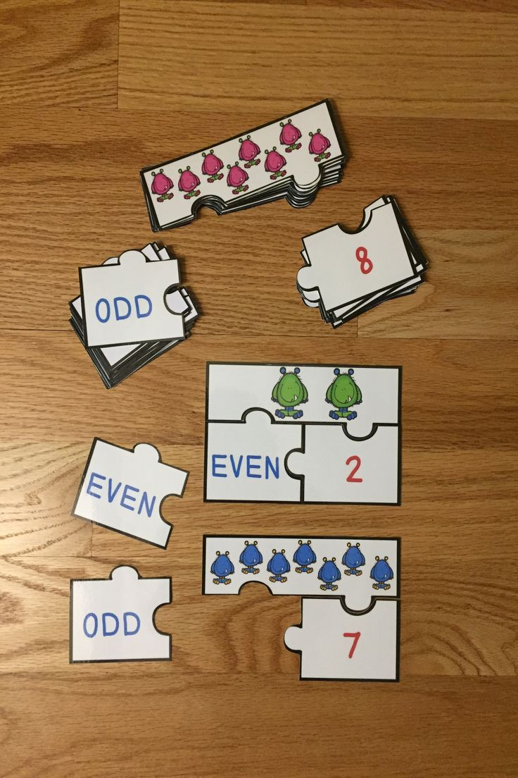 Even And Odd Numbers Game Puzzles For Odd And Even Number Center Activity  2oa3