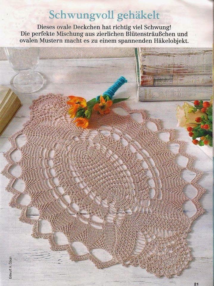 Mejores 86 imágenes de napperon rond en Pinterest   Manteles ...
