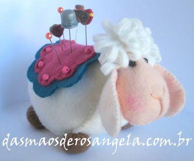 Very cute sheep pin cushion