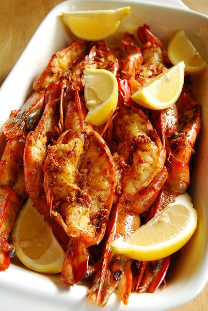 Garlic Butter Prawns. The Pimenton mentioned in the ingredient list is a name Spaniards use for Paprika. They use a wide variety of Pimenton as far as smokiness and heat. This one appears to be a spicy one but you can use one to suit your taste.
