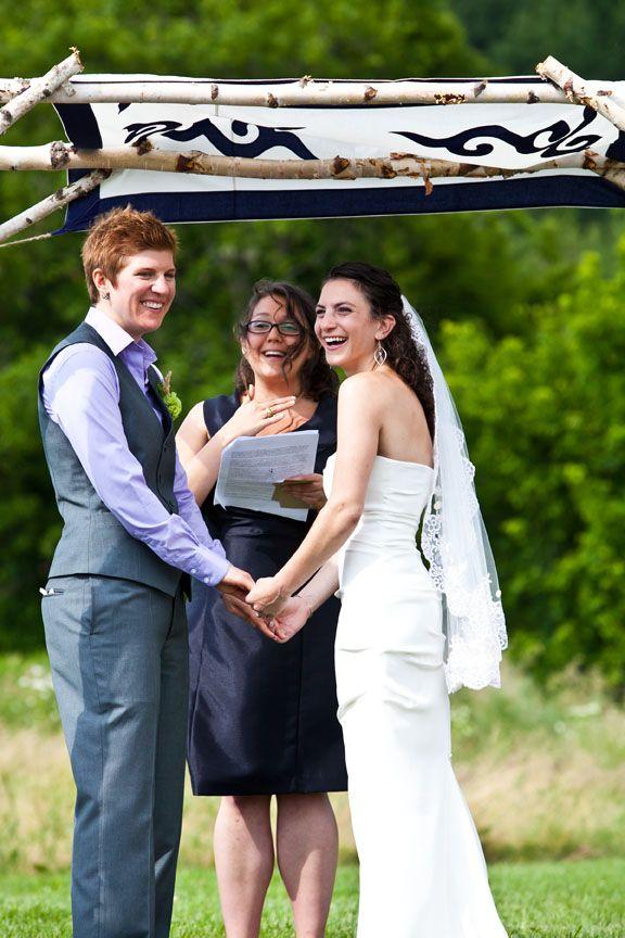 A Traditional Lesbian Wedding -- Jewish Ritual