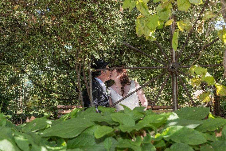 Candid Photos of a Lifetime - Bride & Groom totally lost in each other in the tranquility of Gairloch Garden Oberon... www.candidphotosofalifetime.com.au
