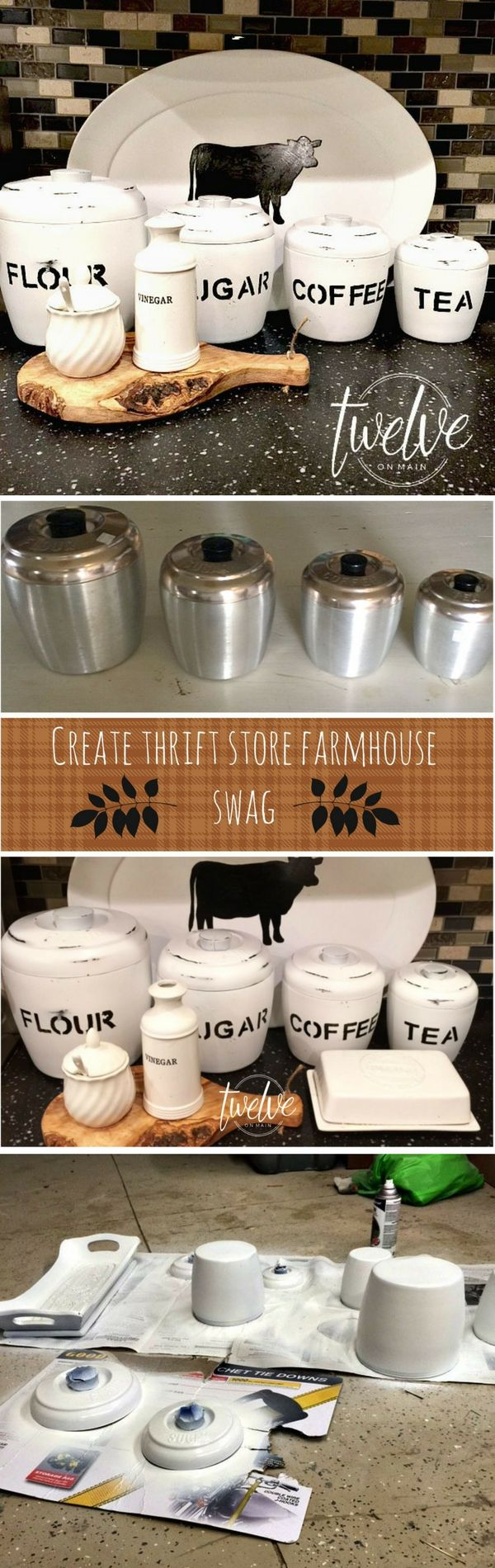 Check out how to make DIY farmhouse style containers from thrift store finds @istandarddesign