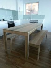 dining table with benches