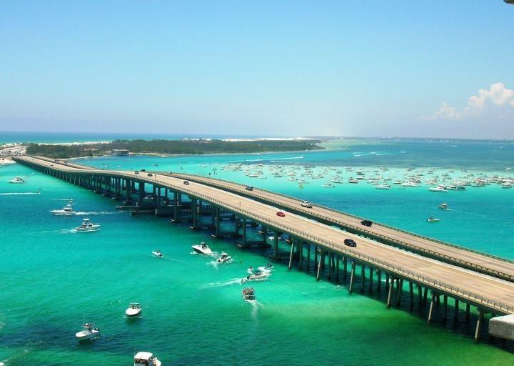 Crab Island Destin Bridge Taken From The Emerald Grande