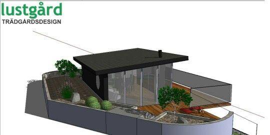Gardenhouse in slope by Lustgård Trädgårdsdesign