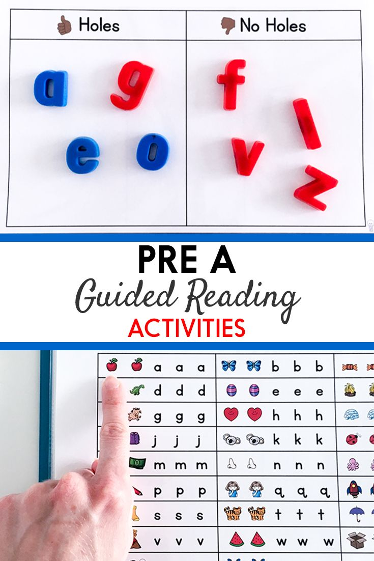 Pre A Guided Reading Activity Binders | Guided reading ...