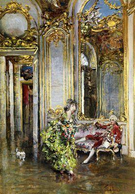 L'amie du Marquis, par Giovanni Boldini