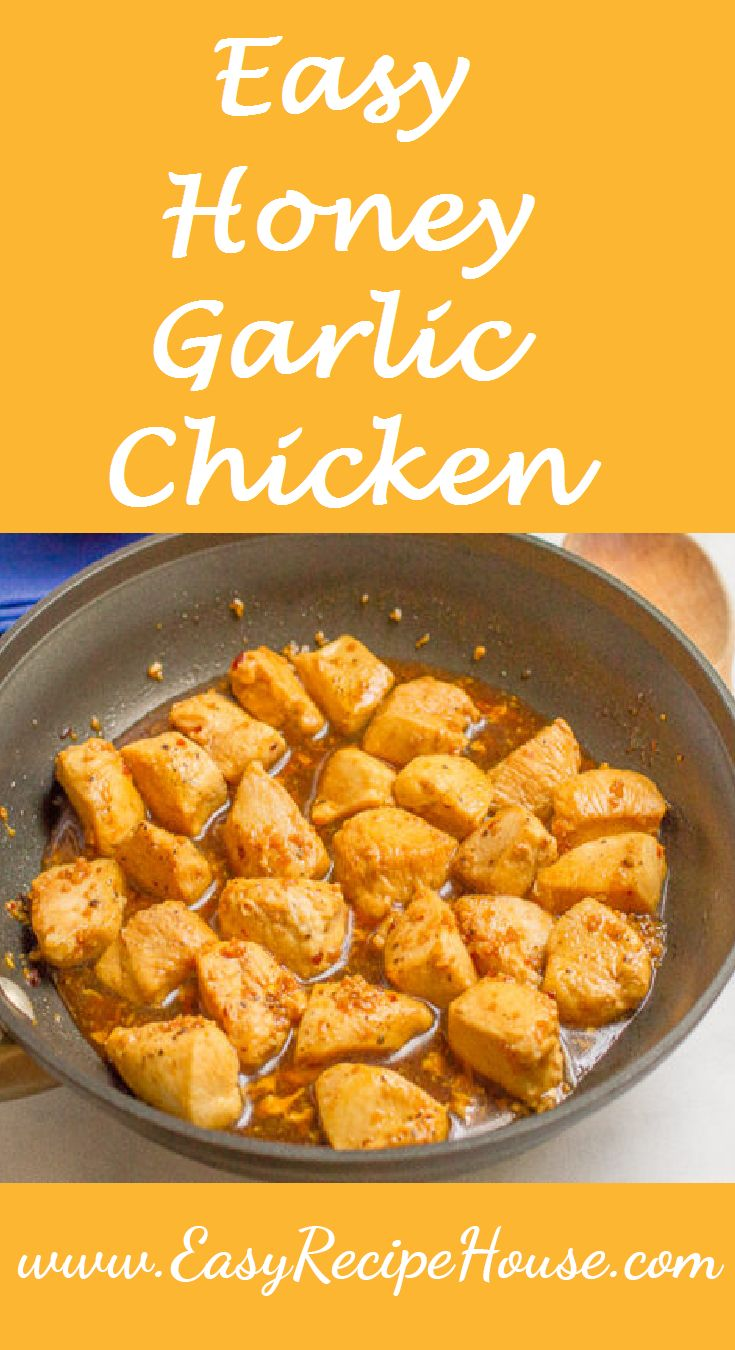 Easy Honey Garlic Chicken- Easy Dinner Recipe- 15 Minutes to Table- Tasty ,Simple  and Quick