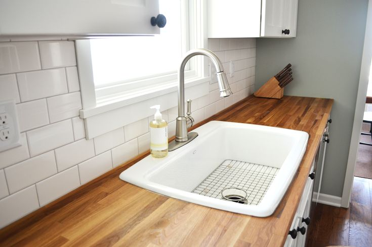 painting wood kitchen antique countertops diy pictureikea oak butcher block countertop with white sink and stainless steel faucet for modern kitchen furniture ideachic-kitchen island with butcher...