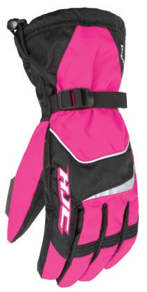 HJC Storm Snowmobile Gloves for women in pink black. Available in womens sizes XS, S, M, L and XL. Your price is $44.99.