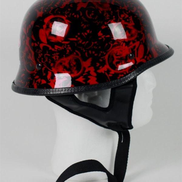 red wine german boneyard skull motorcycle helmet $37.95#germanhelmet #motorcyclehelmet #motorcyclehelmets https://theleatherdropship.com