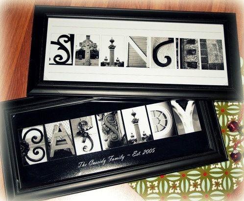 Alphabet spécial Art Photography (2 gravures encadrées)