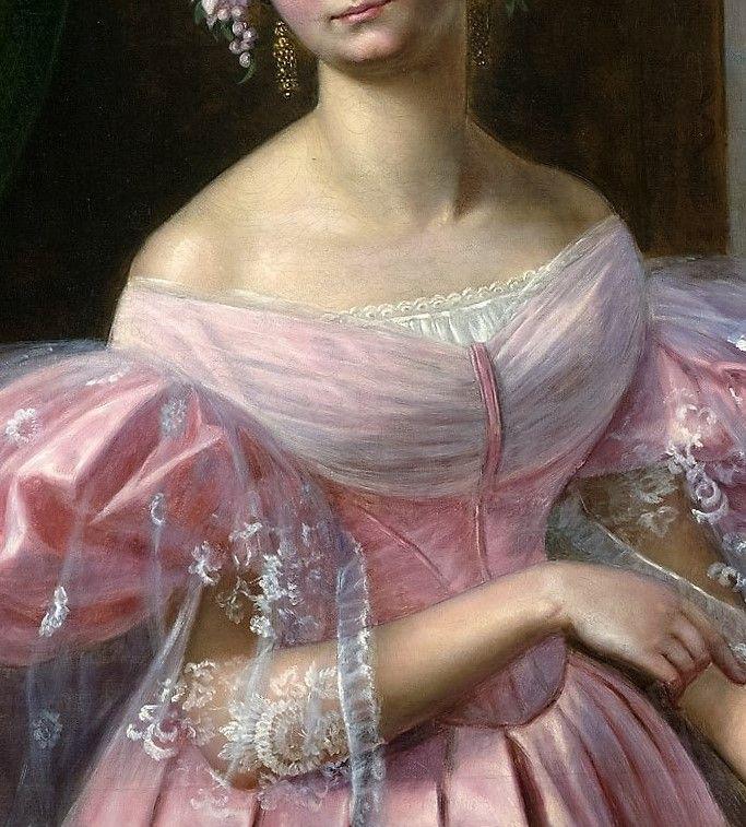 Portrait of Helene, Princess of Mecklenburg Schwerin as a Bride by Gaston Camillo Lenthe, 1830