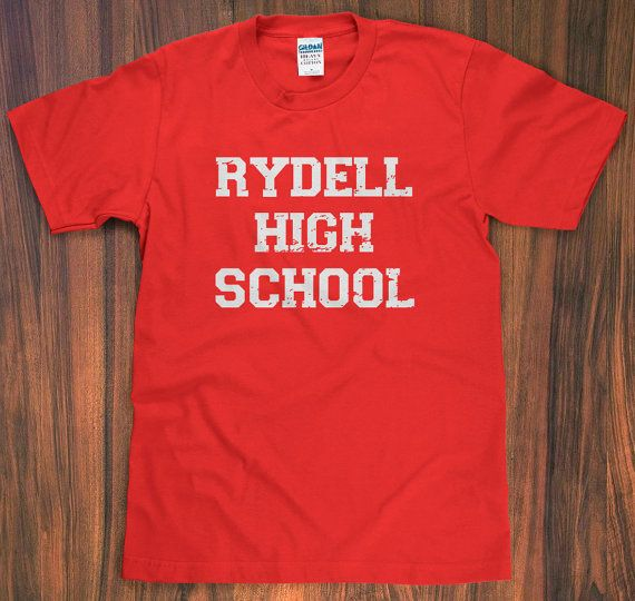 Grease 'Rydell High' TShirt  school 50s 70s john by SlothMachine, $10.00