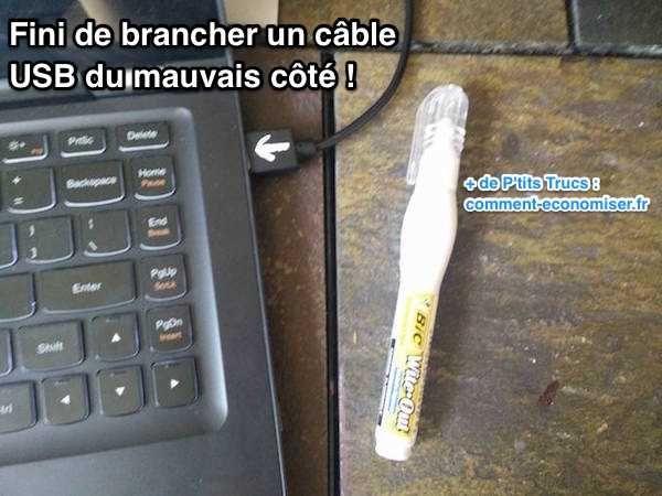 Vous tombez toujours sur le mauvais côté du câble USB ? Vous n'êtes pas le seul !  Découvrez l'astuce ici : http://www.comment-economiser.fr/astuce-pour-brancher-cable-usb-bon-cote.html?utm_content=bufferabac3&utm_medium=social&utm_source=pinterest.com&utm_campaign=buffer