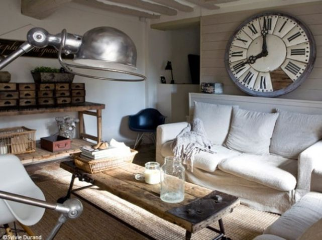 88 best d co campagne country decor images on pinterest for Salon industriel cosy