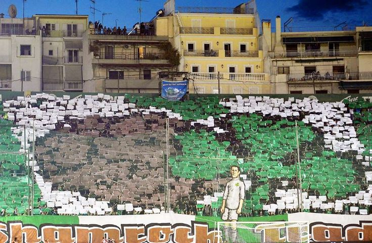 Best soccer Tifos from around the world:     Panathinaikos Athens:   Panathinaikos Athens fans display a banner during the UEFA Europa League match against Dynamo Moscow.