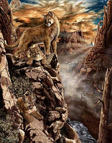 Hidden Pictures Bev Doolittle   ... there is a hidden cougar return to hidden images brain tests page