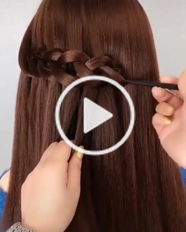 Meenu Kumari Meenukumari On Tiktok Loop Hairstyle Very Simple Trick With Comb Meenukumari Beautyhacks Waterfall Hairstyle Girls Hairstyles Easy Hair Hacks