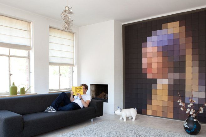 Girl with a pearl earring: Wall Art, Interior Design, Girls, Ideas, Pearl Earrings, Pearls, Wall Decoration, Pixel Art