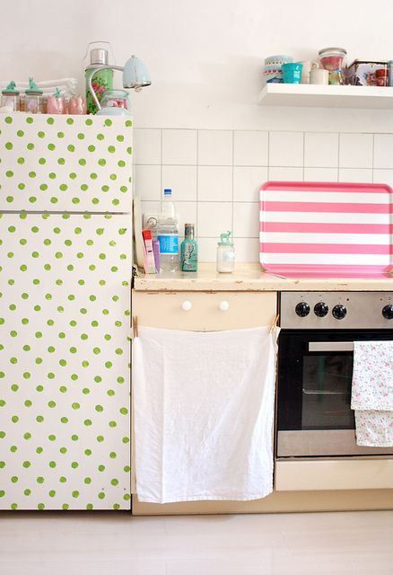polka dotted fridge!