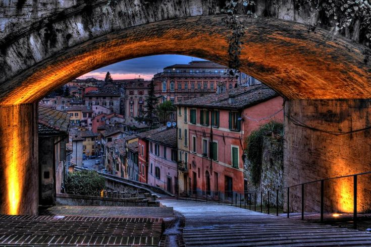 "Perugia, Italy  Great little ""chocolate"" town. Chocolate and wine, 2 of the best things."