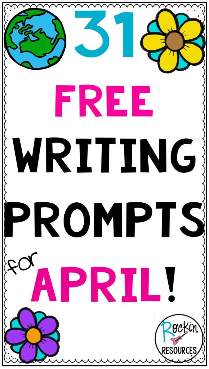 Are you looking for writing prompts related to April?  Choose from 31 of them on this blog post!  You will find writing prompts for narrative writing, opinion writing, informative writing, persuasive writing, descriptive writing, how-to writing, and poetr