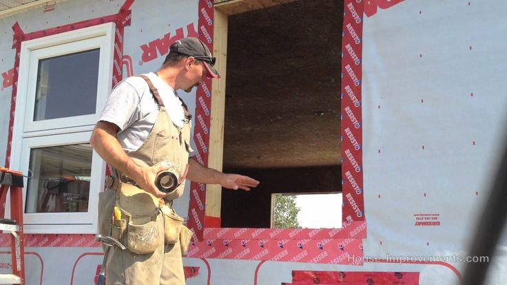 Shannon from http://www.house-improvements.com shows you how to install a window in a new construction situation.--Another great window install video...
