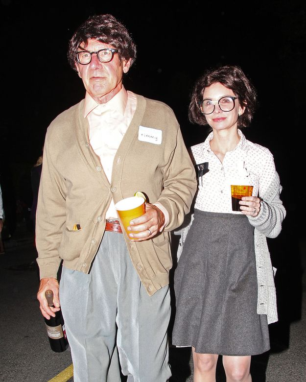 Harrison Ford and Callista Flockhart do Halloween as an old nerd couple