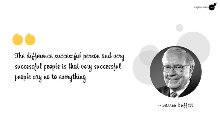 The difference successful person and very successful people is that very successful people say no to everything @WarrenBuffett #motivational