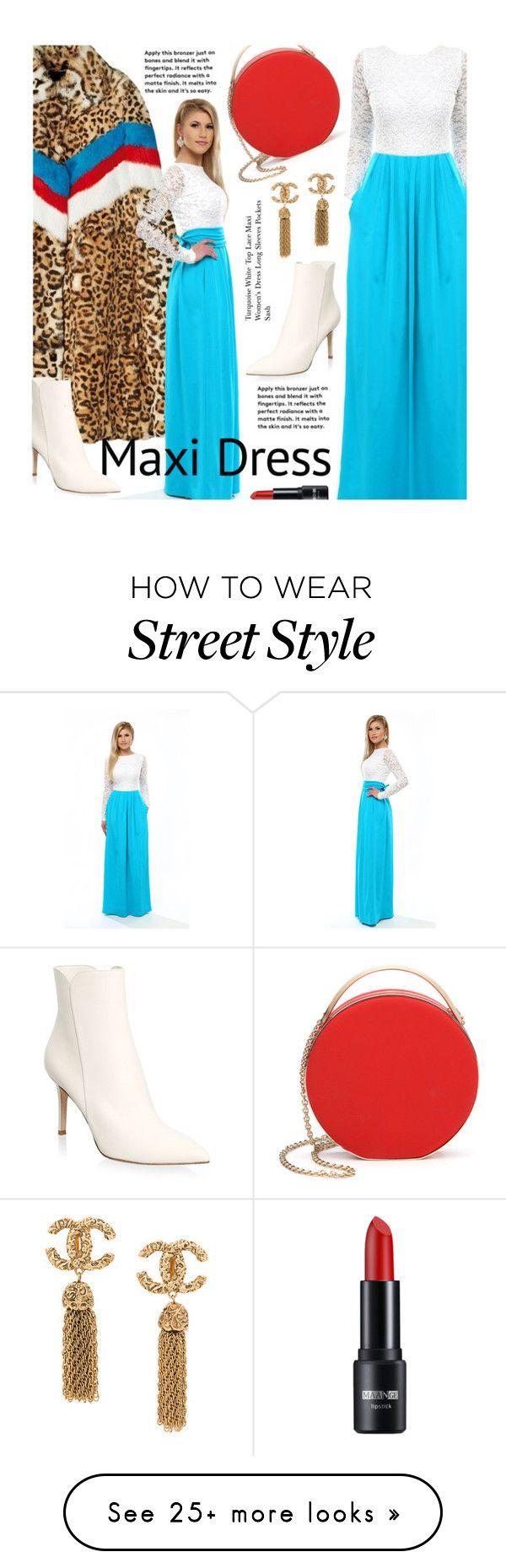 """Maxi Dress"" by beebeely-look on Polyvore featuring 3.1 Phillip Lim, Gianvito Rossi, StreetStyle, NYFW, maxidress, lacedress, DesirVale and plus size dresses"