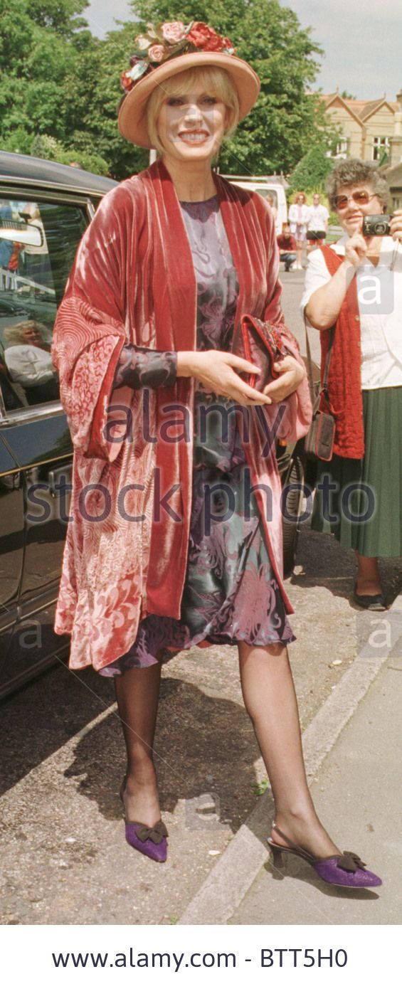 Joanna Lumley wears Charles and Patricia Lester to her sons wedding